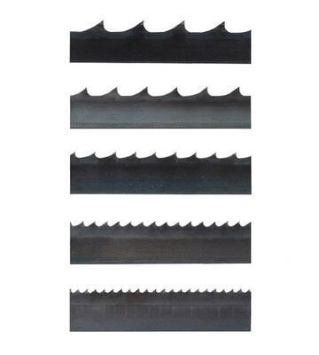 Typy zubů pilových pásů