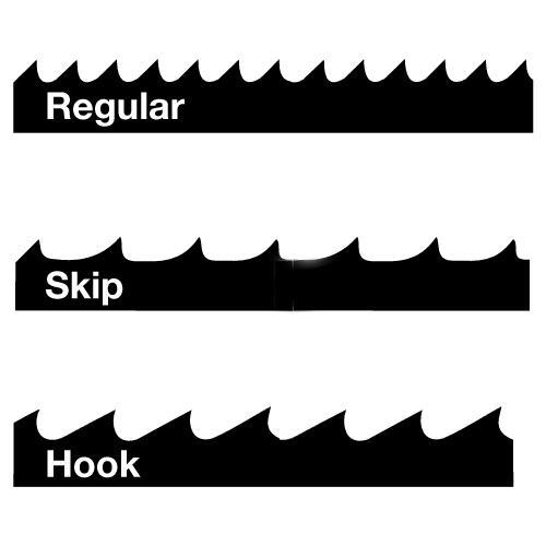 grupa zębów skip hook regular